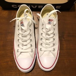 Brand New white Converse (size 9)